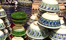 Met de hand gemaakt traditioneel aardewerk stock foto's