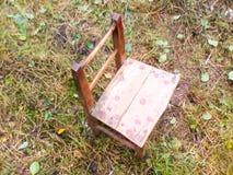 Met de hand gemaakt weinig stoel Stock Foto
