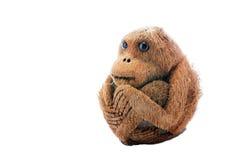 Met de hand gemaakte aap van droge kokosnoot Stock Afbeeldingen
