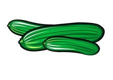 Met de hand gemaakte anime van de komkommer Stock Fotografie