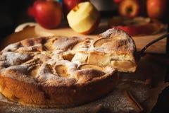 Met de hand gemaakte appeltaart Stock Foto