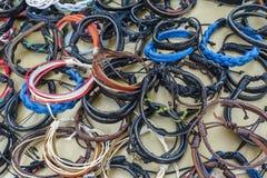 Met de hand gemaakte armbanden Stock Foto's