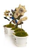 Met de hand gemaakte bloem in pot Stock Fotografie