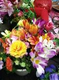 Met de hand gemaakte bloemen in Bangkok Stock Afbeelding