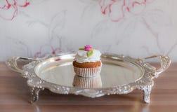 Met de hand gemaakte cake Stock Foto's