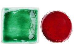 Met de hand gemaakte ceramische elementen royalty-vrije stock afbeeldingen