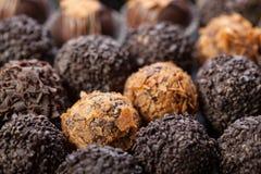 Met de hand gemaakte chocolade Stock Foto's