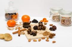 Met de hand gemaakte chocolade met johannesbrood Royalty-vrije Stock Foto's