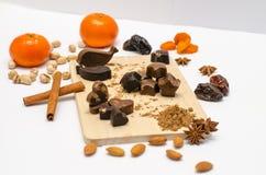 Met de hand gemaakte chocolade met johannesbrood Royalty-vrije Stock Afbeelding