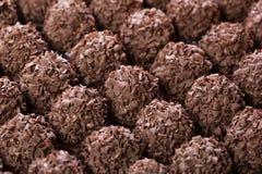 Met de hand gemaakte chocoladebal Royalty-vrije Stock Foto