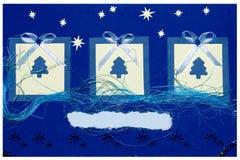 Met de hand gemaakte de prentbriefkaar van Kerstmis Royalty-vrije Stock Afbeeldingen