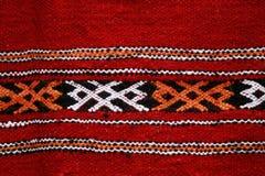 Met de hand gemaakte deken met kleurenpatroon stock afbeelding