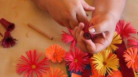 Met de hand gemaakte document bloemen Royalty-vrije Stock Foto
