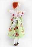 Met de hand gemaakte engelenpop Stock Foto's
