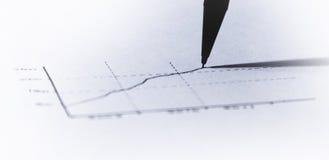 Met de hand gemaakte financiële grafisch Stock Foto's