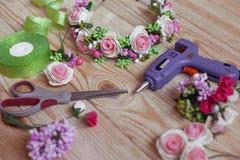 Met de hand gemaakte Floristry Royalty-vrije Stock Foto's