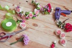 Met de hand gemaakte Floristry Stock Foto