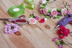 Met de hand gemaakte Floristry Stock Afbeelding