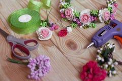Met de hand gemaakte Floristry Stock Afbeeldingen