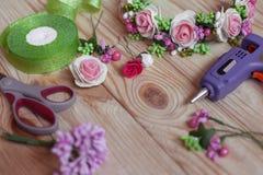 Met de hand gemaakte Floristry Stock Fotografie