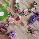 Met de hand gemaakte Floristry Royalty-vrije Stock Afbeelding