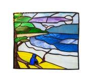 Met de hand gemaakte gebrandschilderd glassamenstelling Stock Afbeeldingen