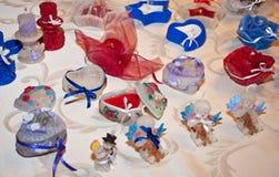 Met de hand gemaakte gekleurde kaarsen Stock Foto's