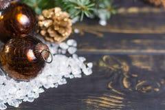 Met de hand gemaakte glas zware bal voor het exemplaarruimte van de Kerstmisboom Royalty-vrije Stock Foto