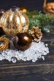 Met de hand gemaakte glas zware bal voor het exemplaarruimte van de Kerstmisboom Royalty-vrije Stock Fotografie