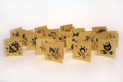 Met de hand gemaakte groetkaarten Stock Foto