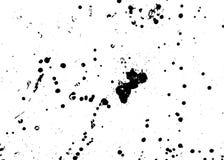 Met de hand gemaakte grungetextuur De abstracte achtergrond van inktdalingen Zwart-witte grungeillustratie Het vectorpatroon van  stock illustratie
