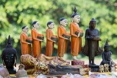 Met de hand gemaakte herinneringen in Birma, Myanmar stock fotografie