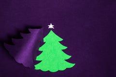 Met de hand gemaakte het document van Kerstmis kaart Stock Afbeelding