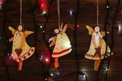 Met de hand gemaakte het stuk speelgoed van de Kerstmisdecoratie Engel Kerstboomspeelgoed, Royalty-vrije Stock Fotografie