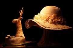Met de hand gemaakte hoed en zak Royalty-vrije Stock Foto