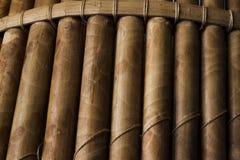 Met de hand gemaakte houten Bamboeachtergrond Stock Afbeelding