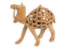 Met de hand gemaakte houten kameel Royalty-vrije Stock Afbeeldingen