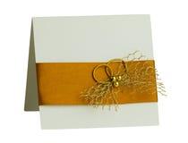 Met de hand gemaakte huwelijkskaart Royalty-vrije Stock Foto's