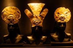 Met de hand gemaakte Inca gouden vervaardiging, Peru stock fotografie