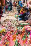 Met de hand gemaakte jute artwoks, Indische ambachtenmarkt in Kolkata Royalty-vrije Stock Afbeelding