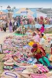 Met de hand gemaakte jute artwoks, Indische ambachtenmarkt in Kolkata Royalty-vrije Stock Fotografie