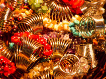 Met de hand gemaakte juwelen Stock Foto