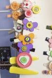 Met de hand gemaakte juwelenhaarspeld stock afbeeldingen