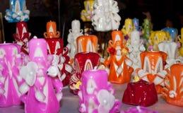 Met de hand gemaakte kaarsen Stock Afbeeldingen