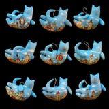 Met de hand gemaakte katten Stock Foto