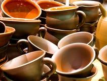 Met de hand gemaakte keramiekpotten Stock Afbeelding