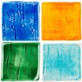 Met de hand gemaakte keramische tegels Royalty-vrije Stock Afbeeldingen