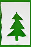 Met de hand gemaakte Kerstboom Stock Foto