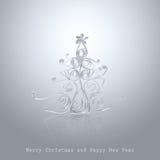 Met de hand gemaakte Kerstboom die van bureaudocument wordt verwijderd Stock Fotografie