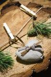 met de hand gemaakte Kerstmisdecoratie Royalty-vrije Stock Foto's